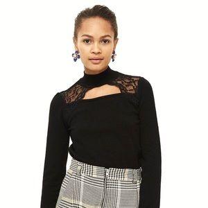 NWOT Topshop Long-Sleeve Choker Cutout Sweater